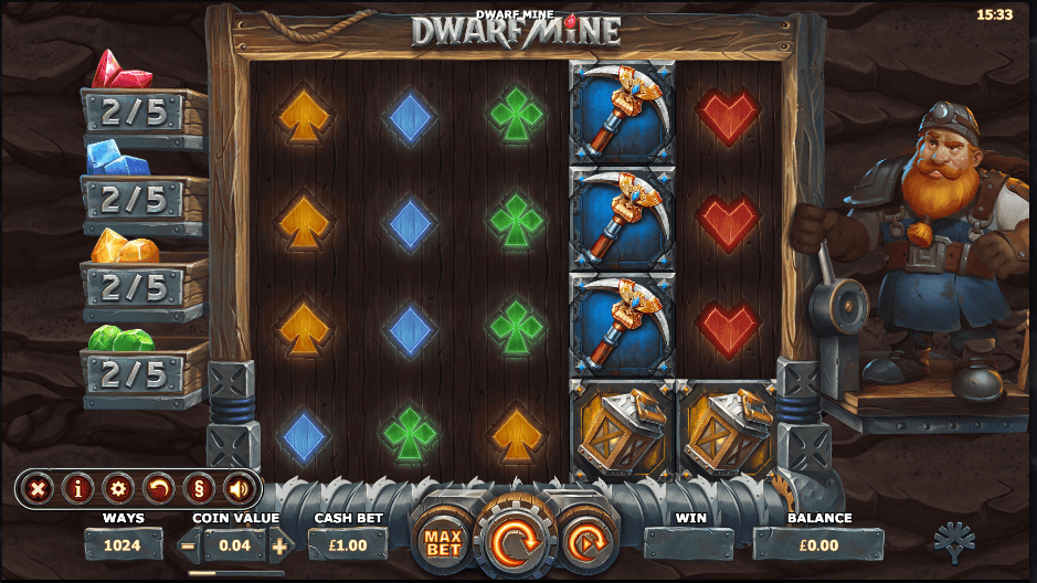 Dwarf Mine Slot Gameplay