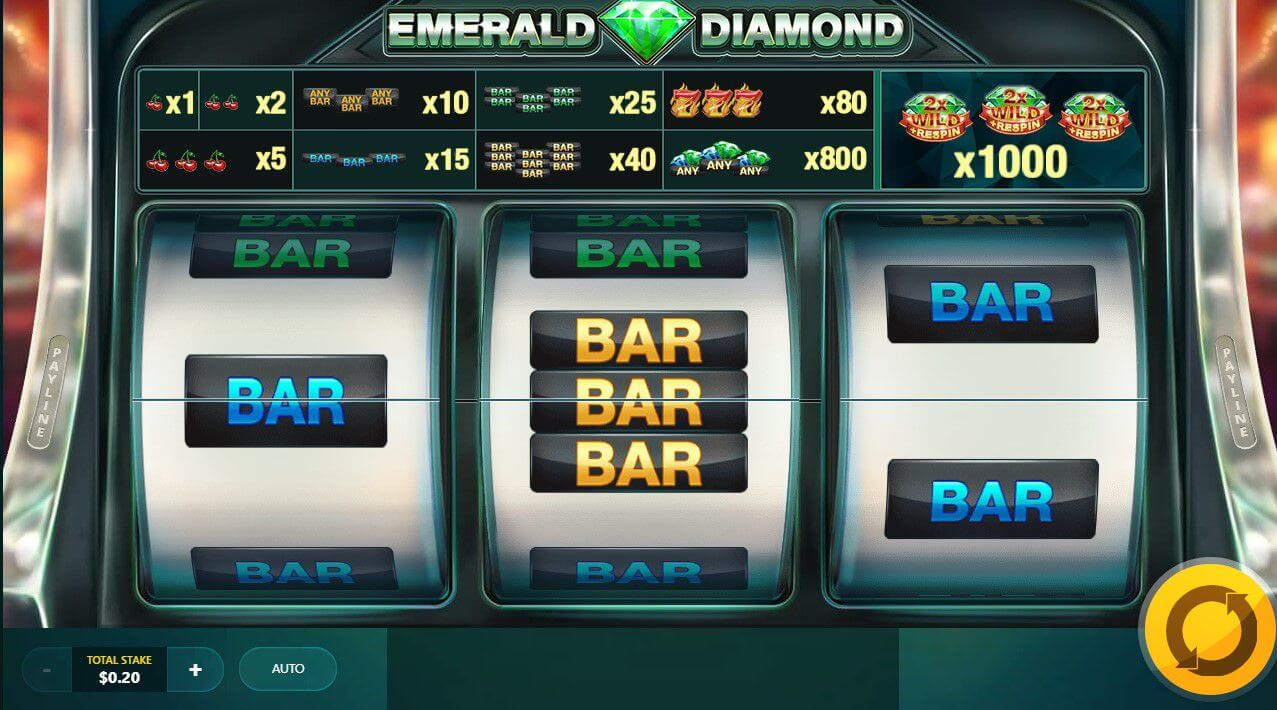 Emerald Diamond Slot Gameplay