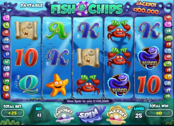 Fish And Chips Slots Game Gameplay