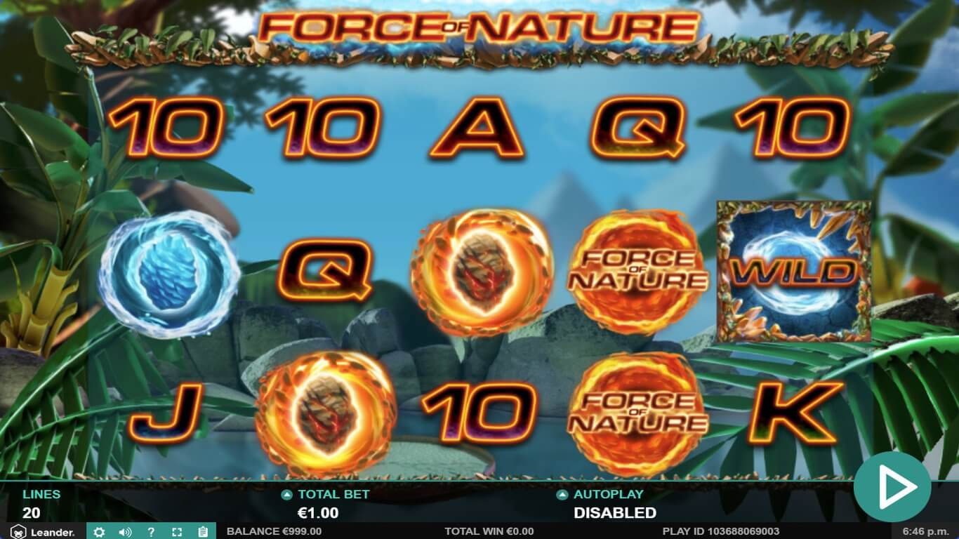 Force Of Nature Slot Bonus