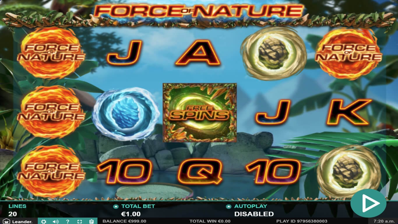 Force Of Nature Slot Gameplay