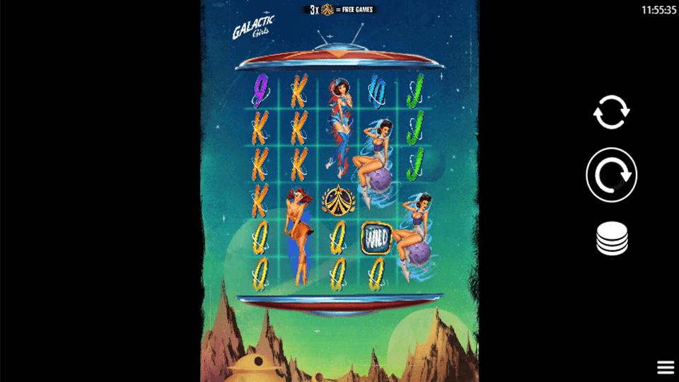 Galactic Girls Slot Gameplay