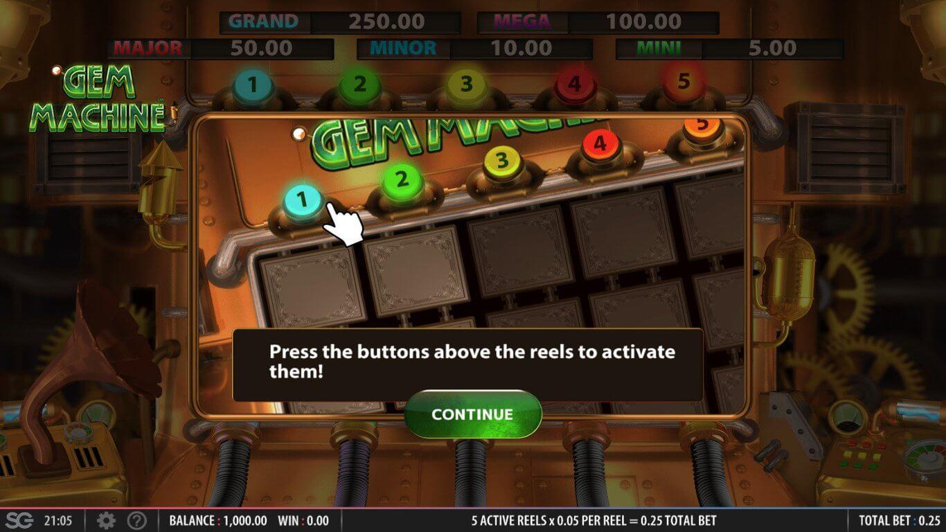 Gem Machine Slot Bonus