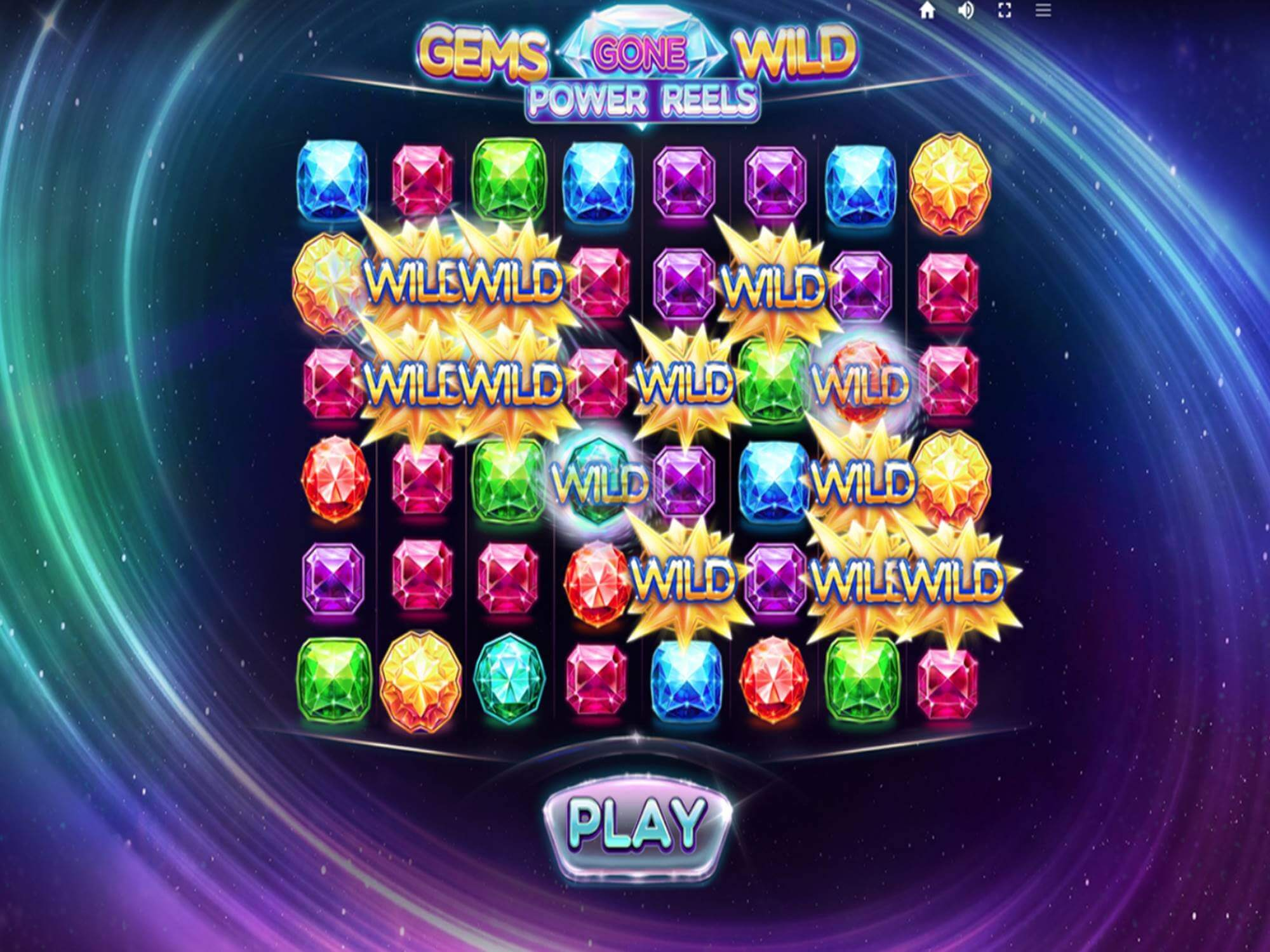 Gems Gone Wild Power Reels Slot Gameplay