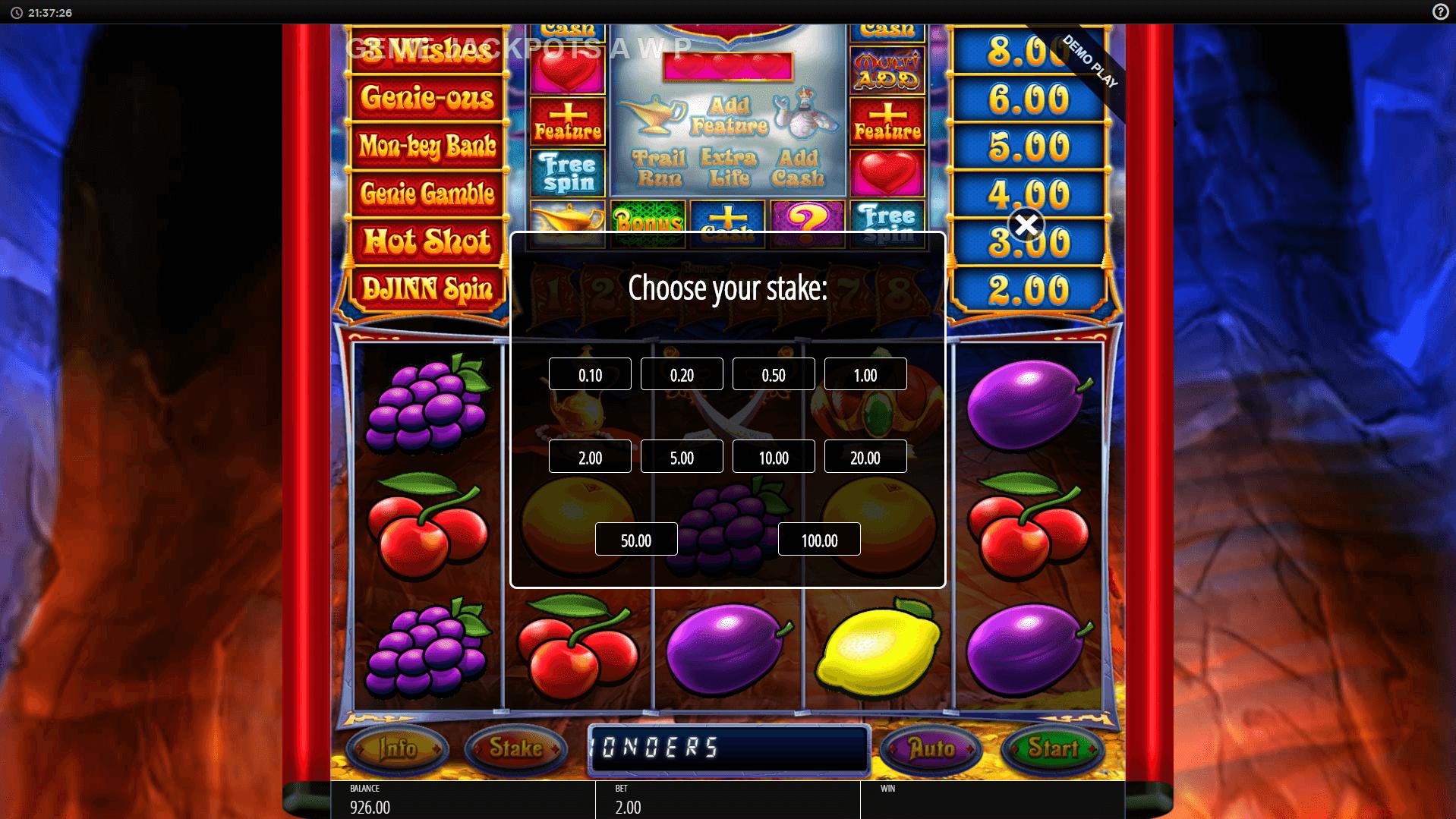Genie Jackpots Cave of Wonders Slot Gameplay