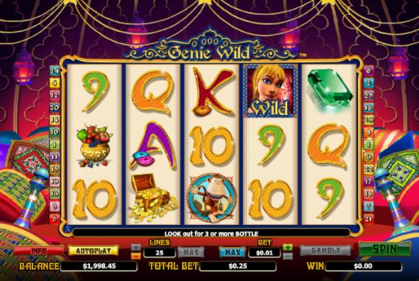 Genie Wild slots game gameplay