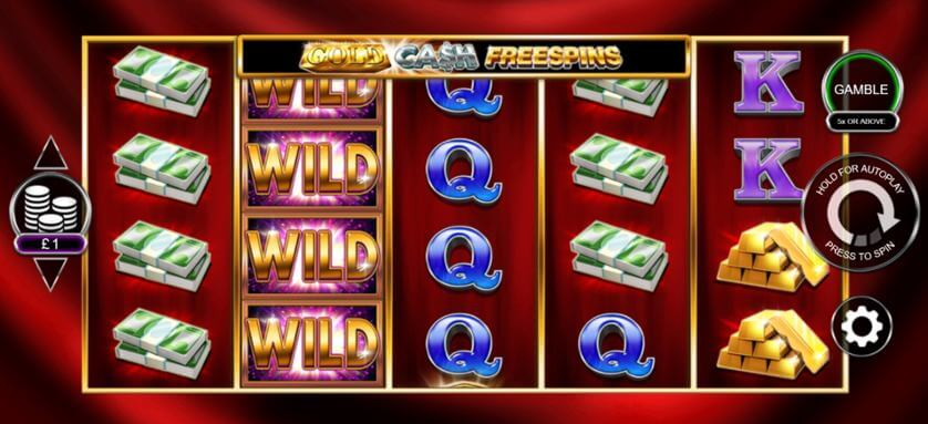 Gold Cash Free Spins Slot Gameplay