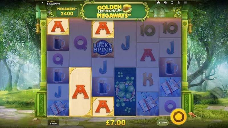 Golden Leprechaun Megaways Slot Gameplay
