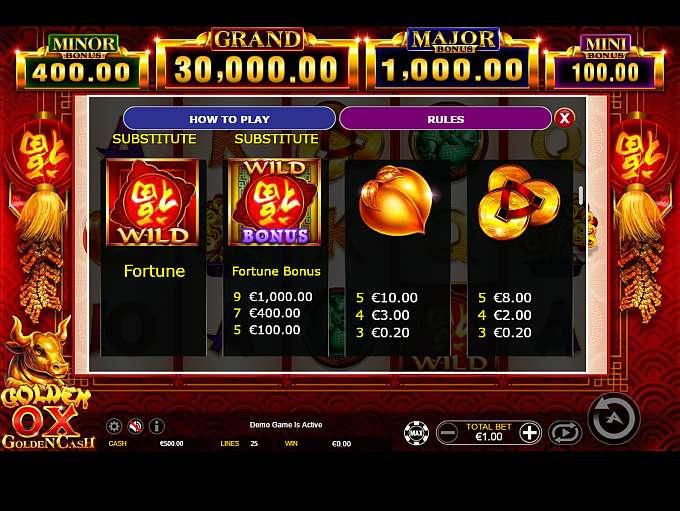 Golden Ox Slot Bonus