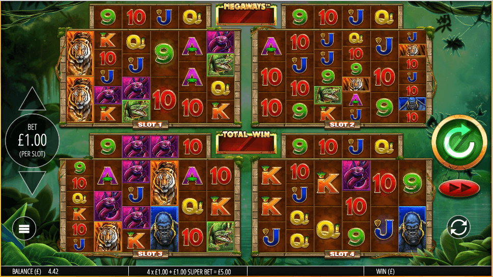 Gorilla Gold Megaways Gameplay