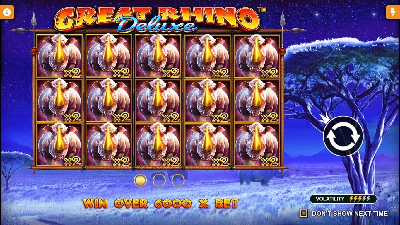 Great Rhino Deluxe Slot Bonus