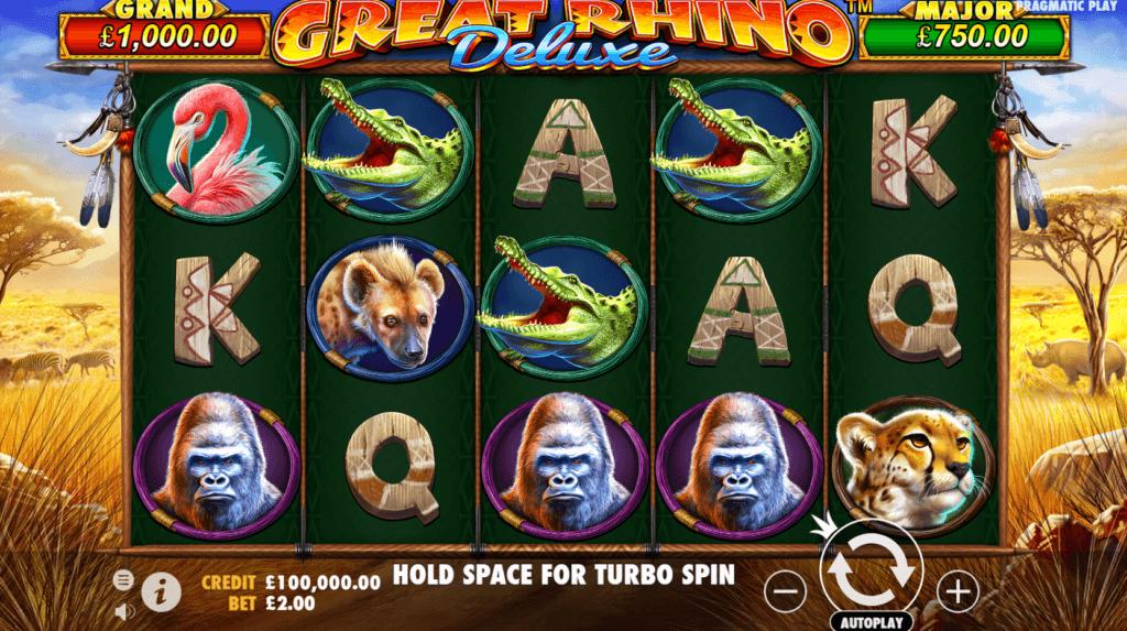 Great Rhino Deluxe Slot Gameplay