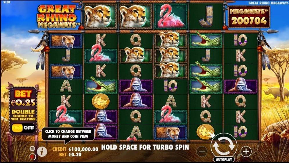 Great Rhino Megaways Gameplay