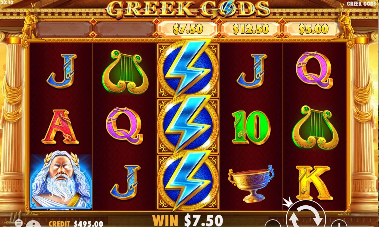 Greek Gods Slot Bonus
