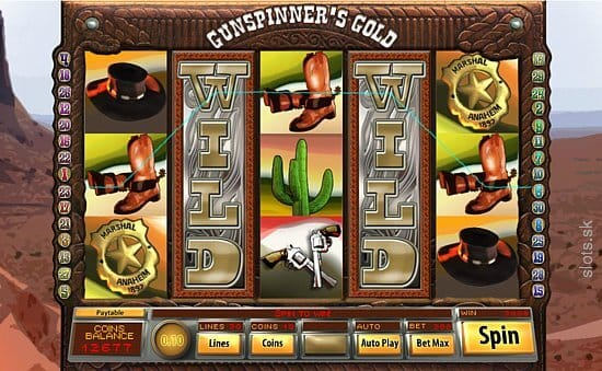 Gunspinner's Gold Slot Bonus