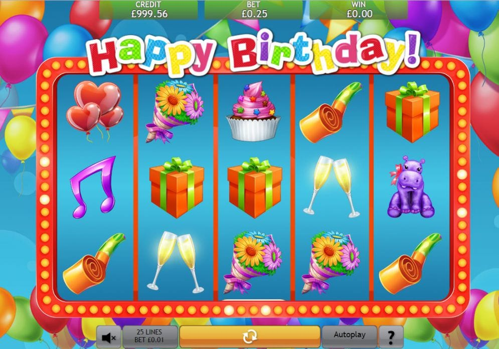 Happy Birthday Jackpot Slots Game gameplay