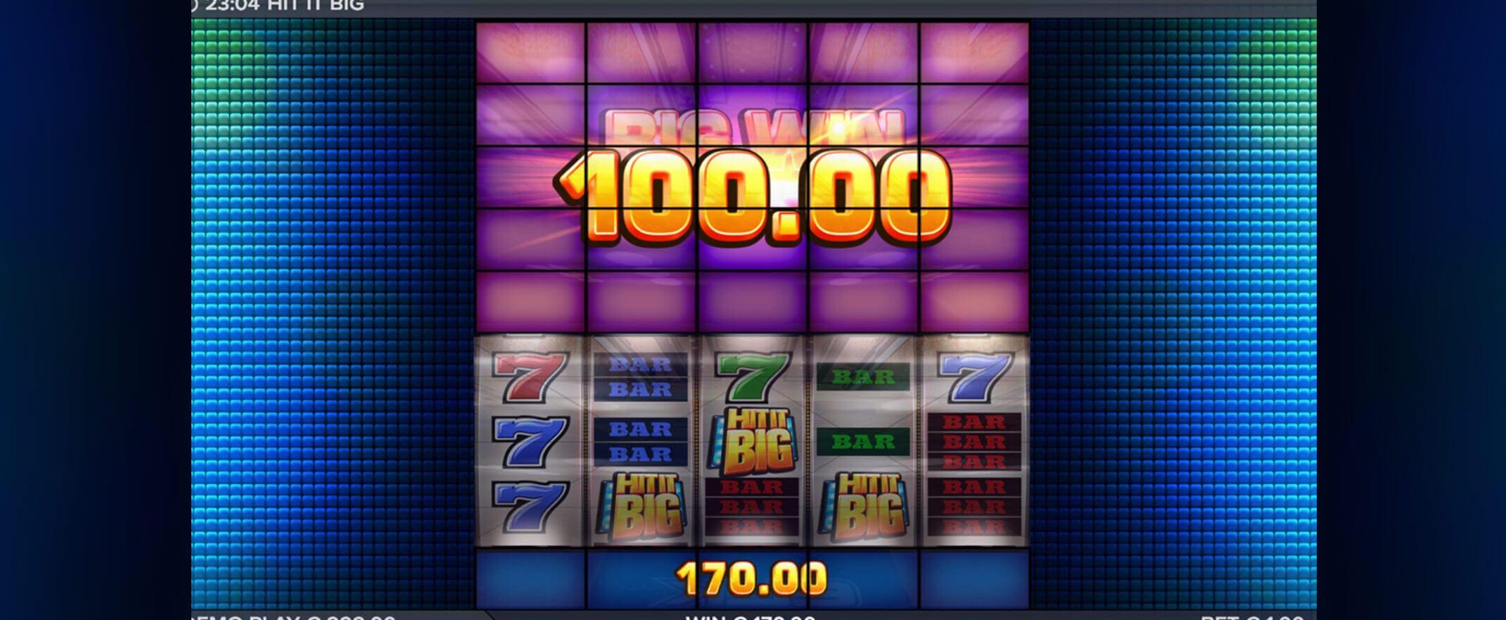 Hit It Big Slot Gameplay