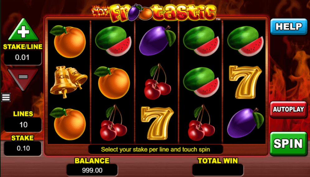 Hot Frootastic Slot Gameplay