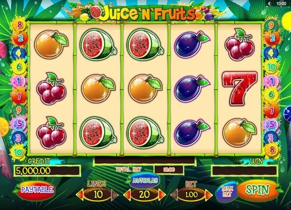 Juice'n'Fruits gameplay