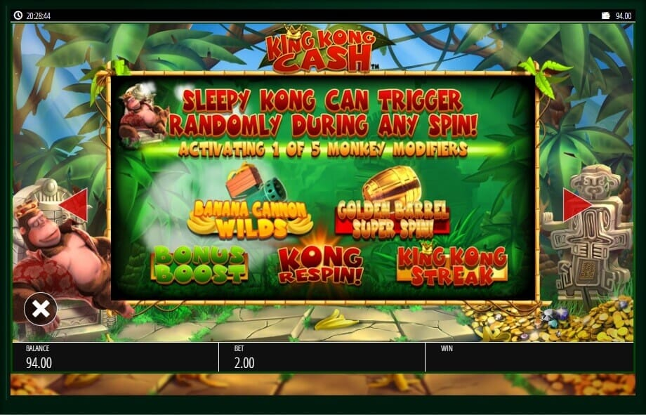 King Kong Cash Slot Bonus