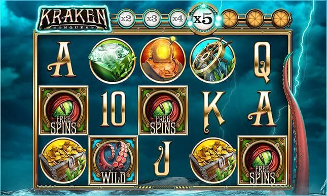 Kraken Conquest Slot Gameplay