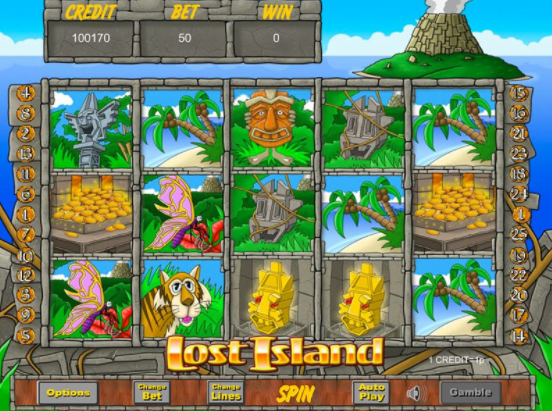 Lost Island Slots Game gameplay