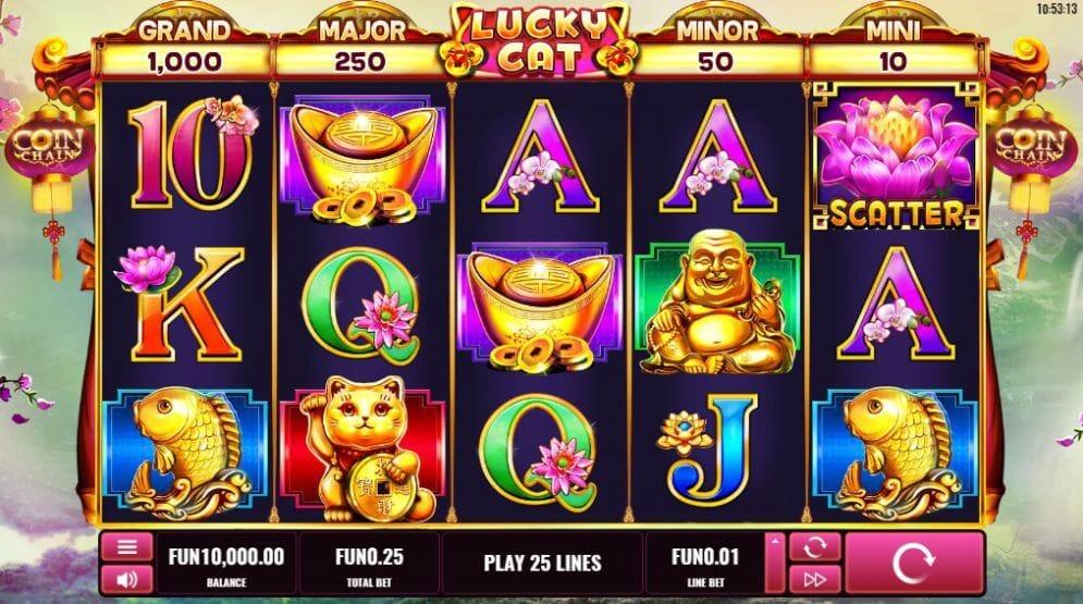 Lucky Cat Slot Gameplay