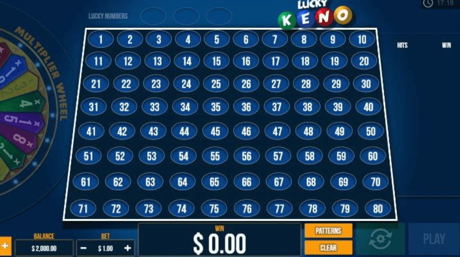 Lucky Keno Gameplay