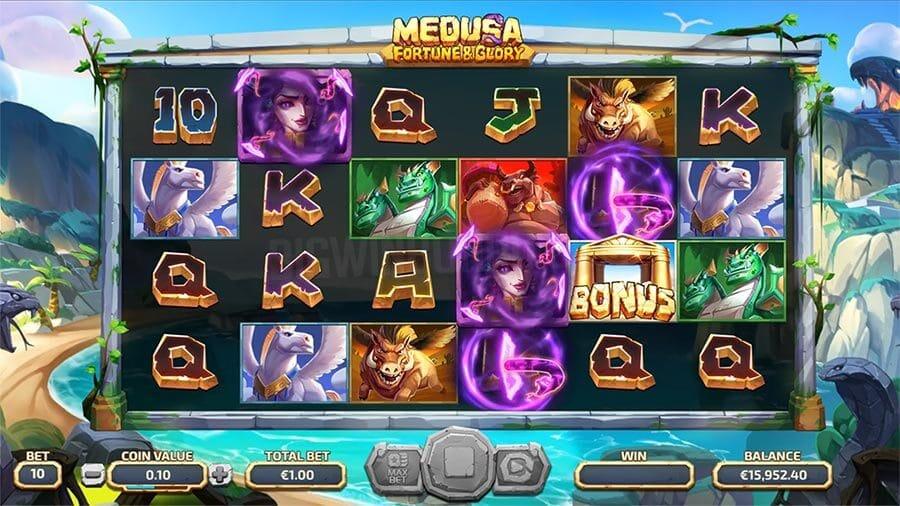 Medusa Fortune and Glory Slot Bonus