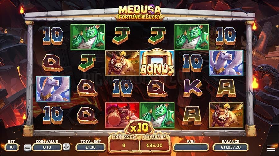 Medusa Fortune and Glory Slot Gameplay