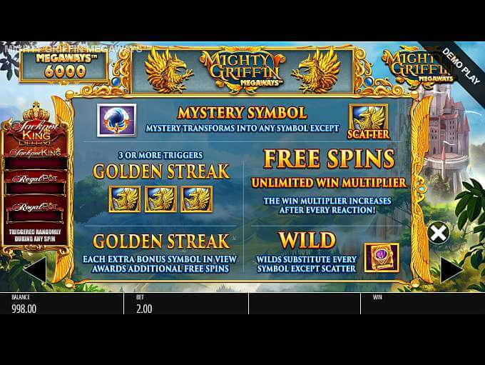 Mighty Griffin Megaways Slot Bonus