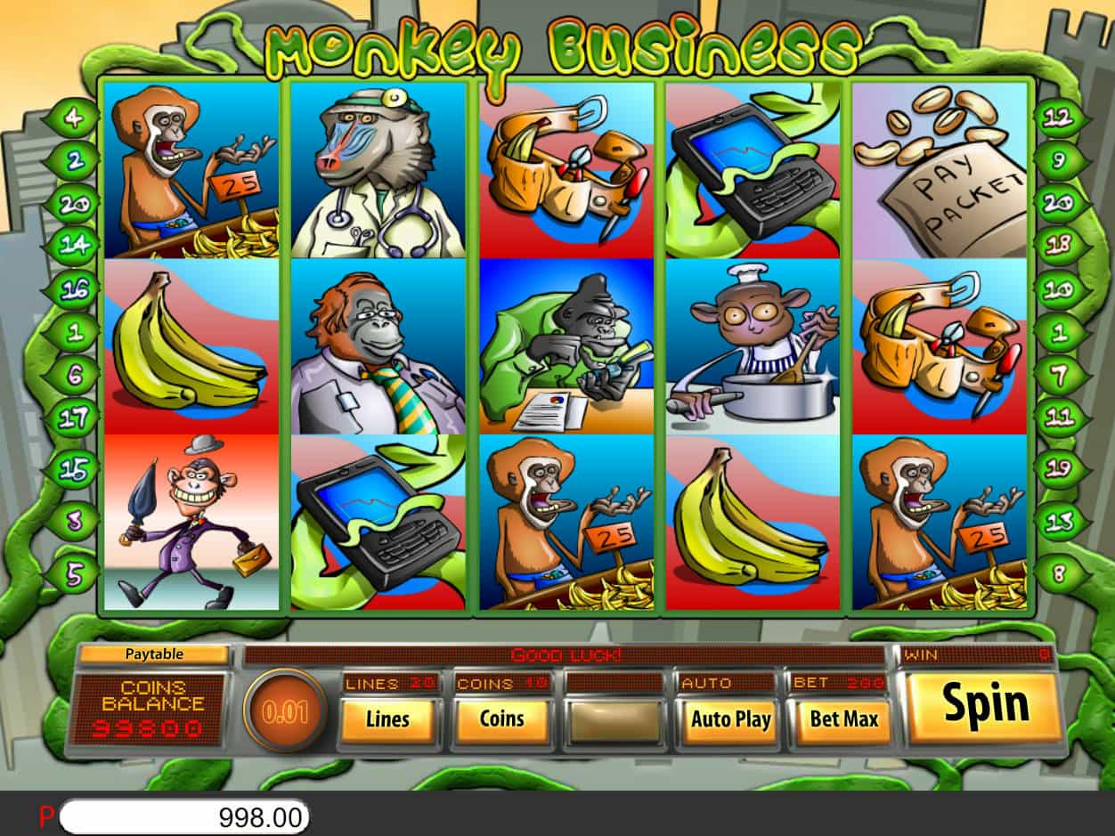 Monkey Business Slot Gameplay