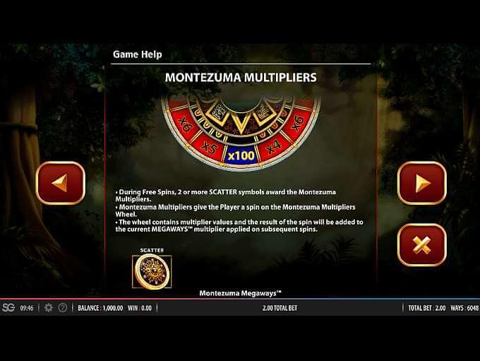 Montezuma Megaways Slot Bonus