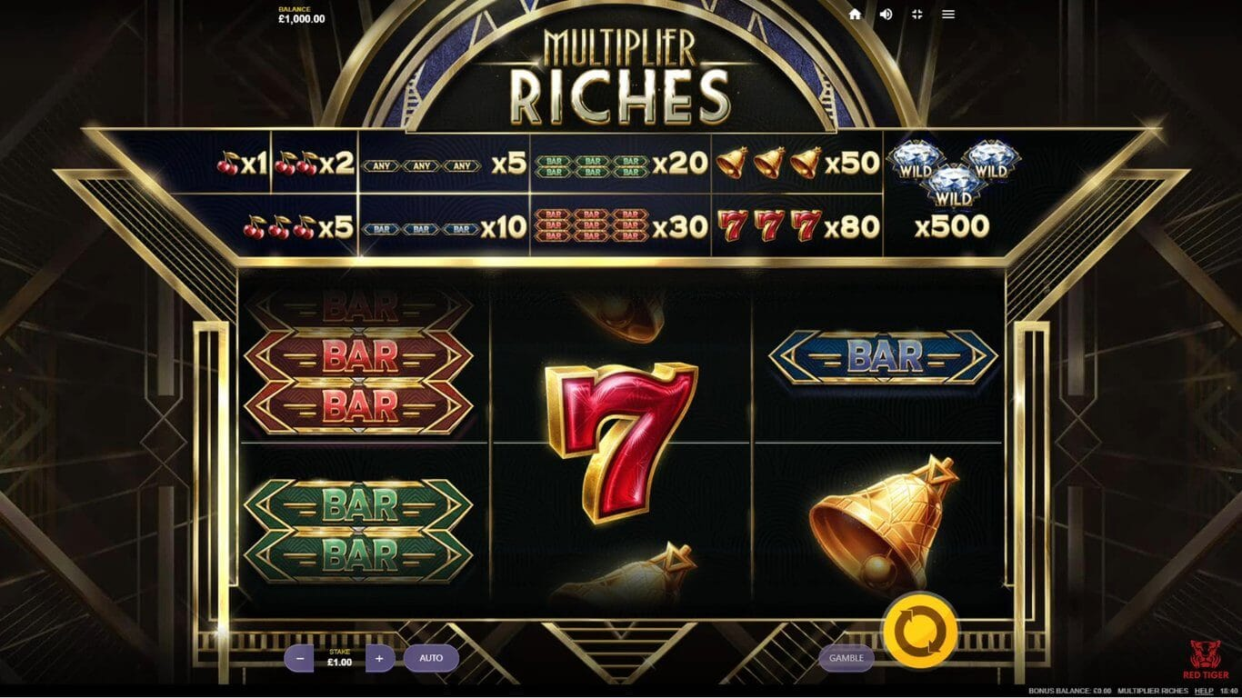 Multiplier Riches Slot Gameplay