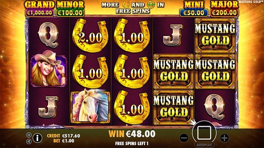 Mustang Gold Slot Bonus