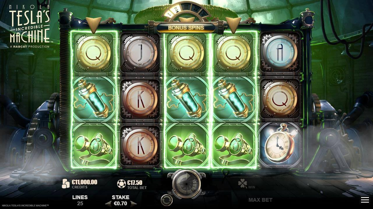 Nikola Tesla Incredible Machine Slot Bonus
