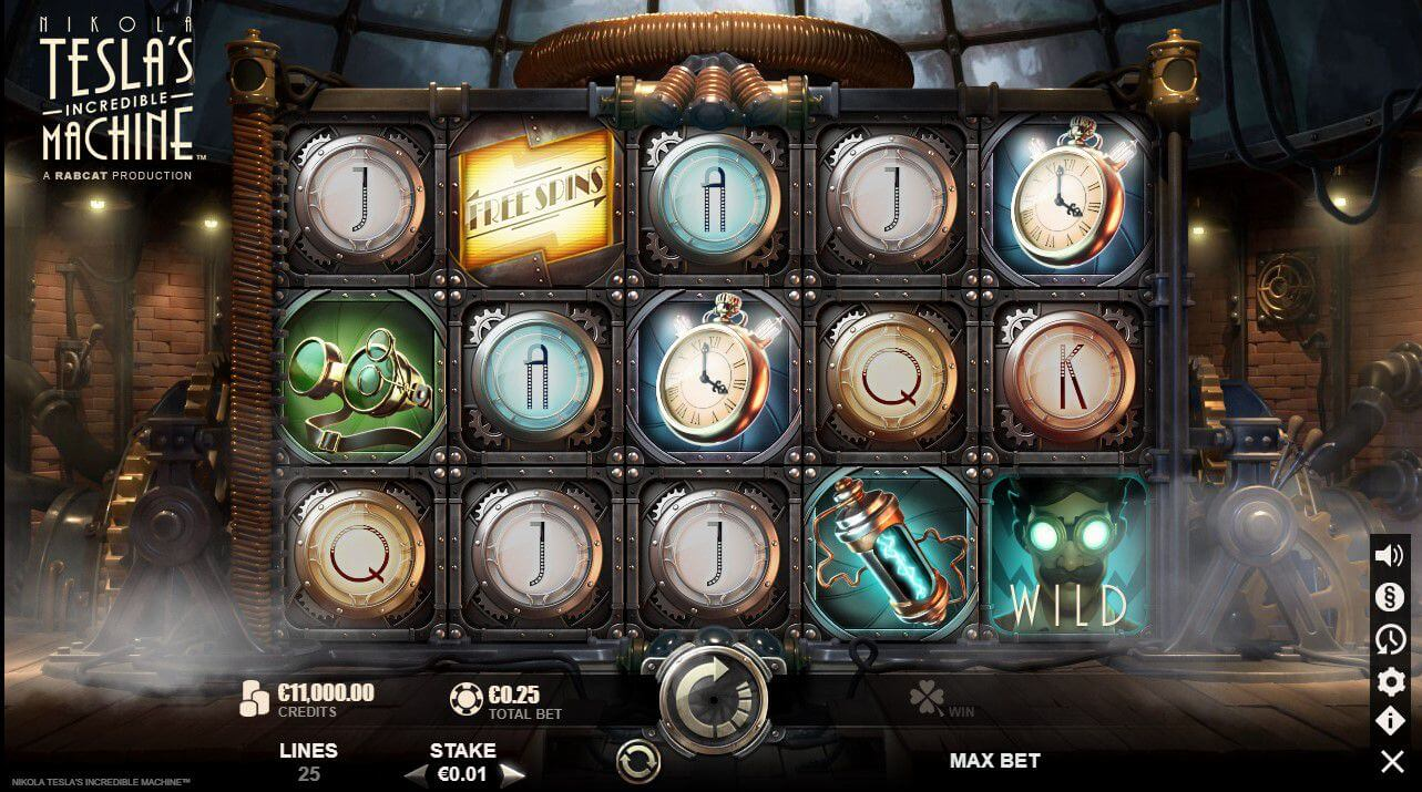 Nikola Tesla Incredible Machine Slot Gameplay