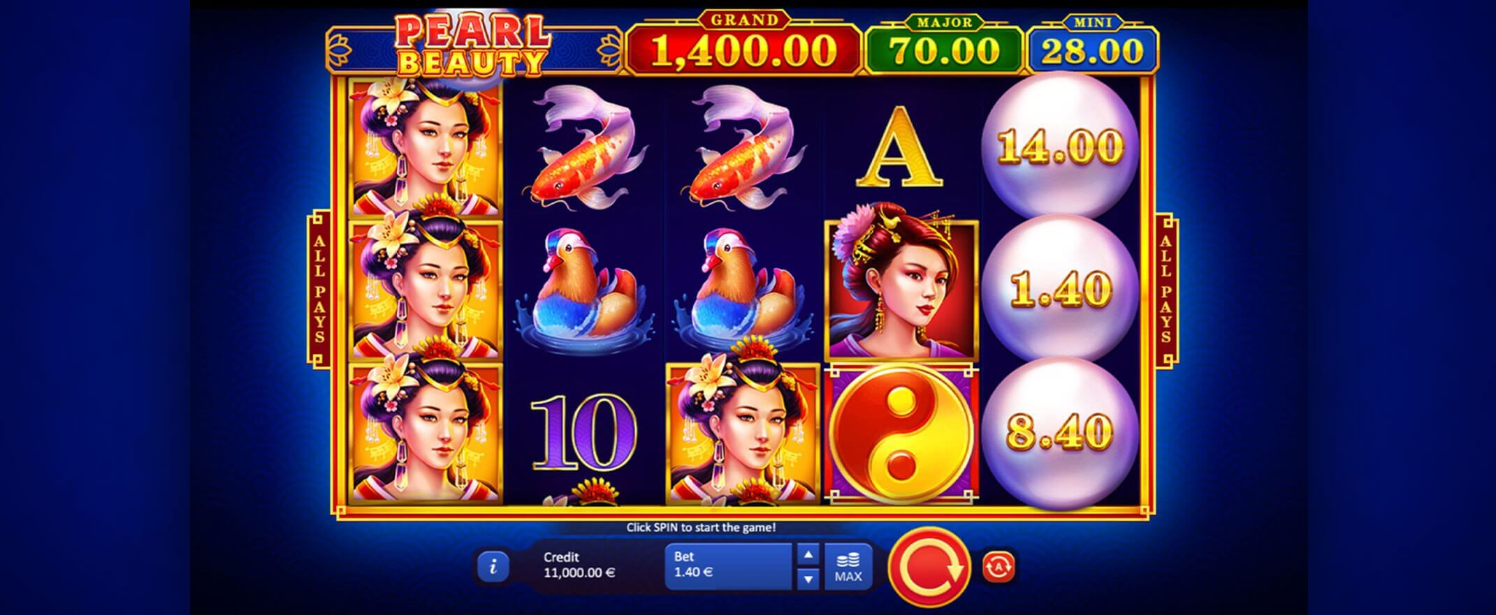Pearl Beauty Hold and Win Slot Bonus