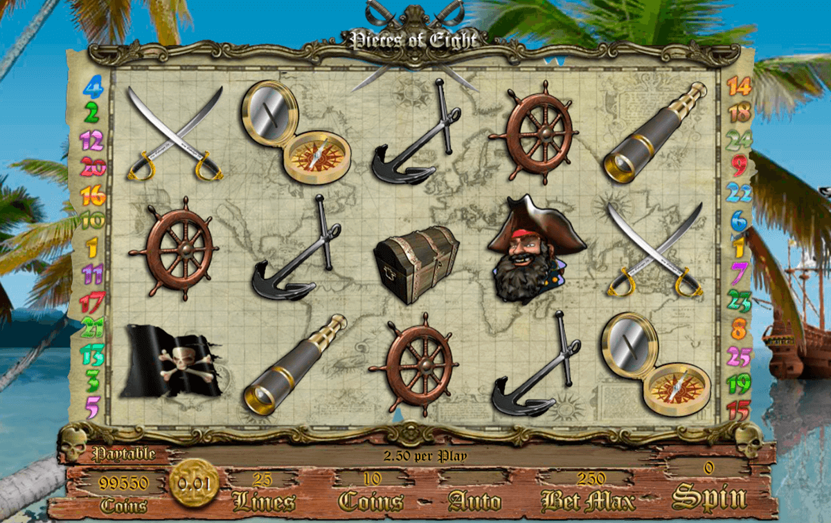 Pieces of Eight Slot Gameplay