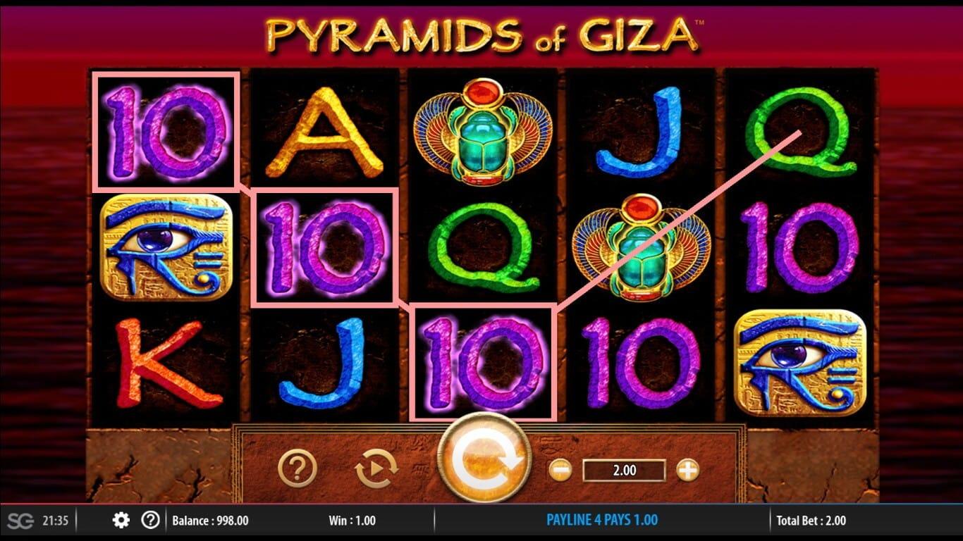 Pyramids of Giza Slot Gameplay