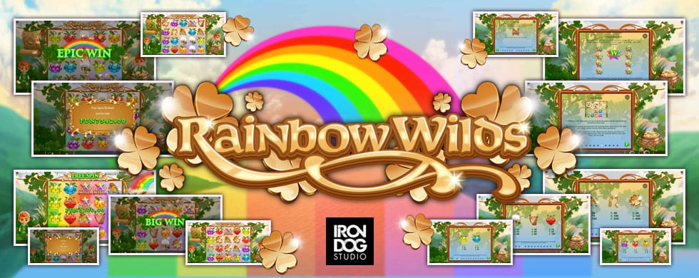 rainbow wilds slots game logo