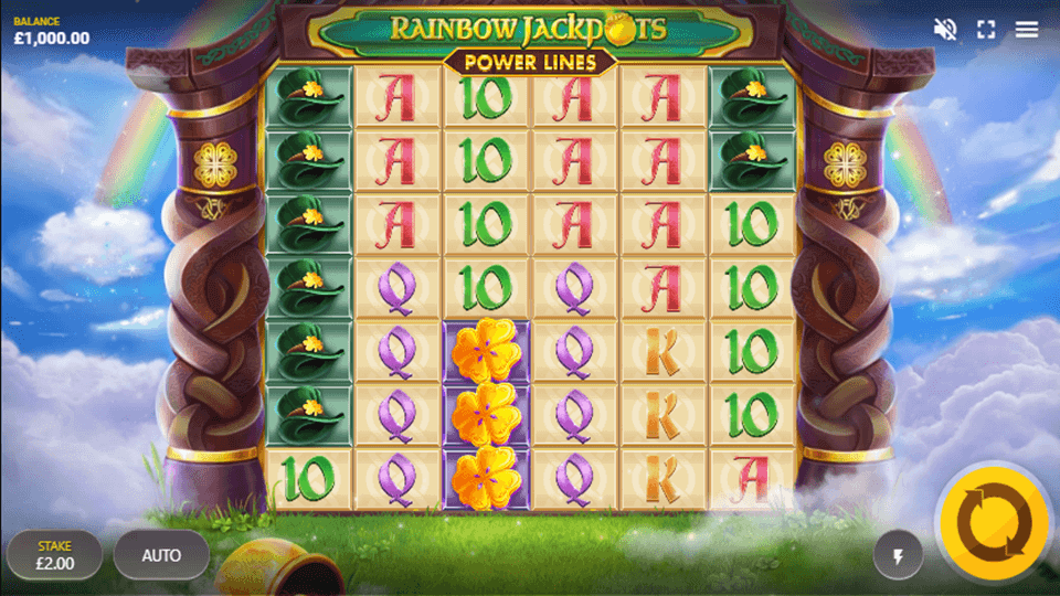 Rainbow Jackpots Power Lines Gameplay