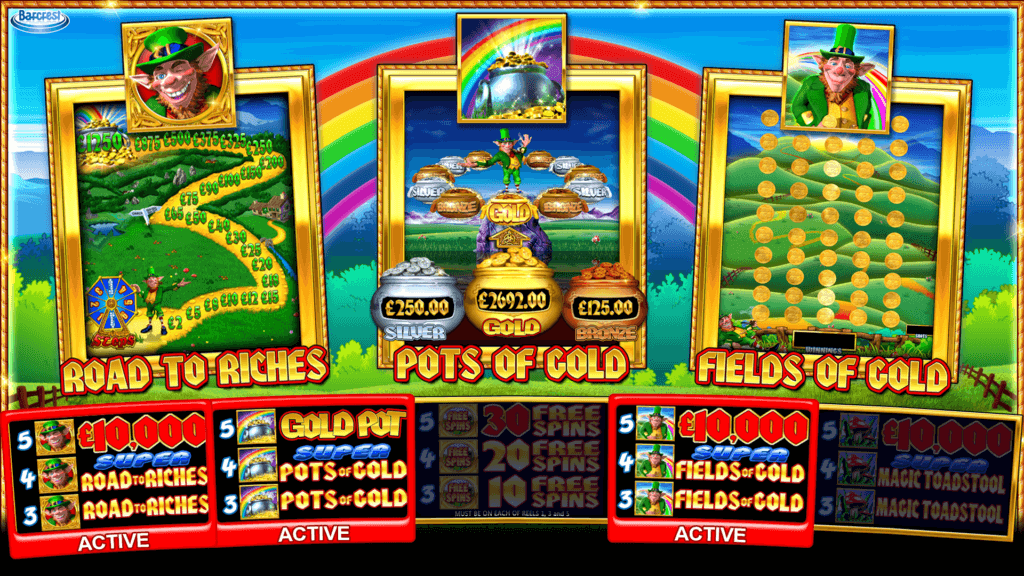 Rainbow Riches Pick n Mix Slot Bonus