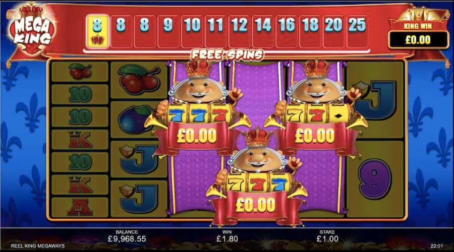Reel King Megaways Slot Gameplay