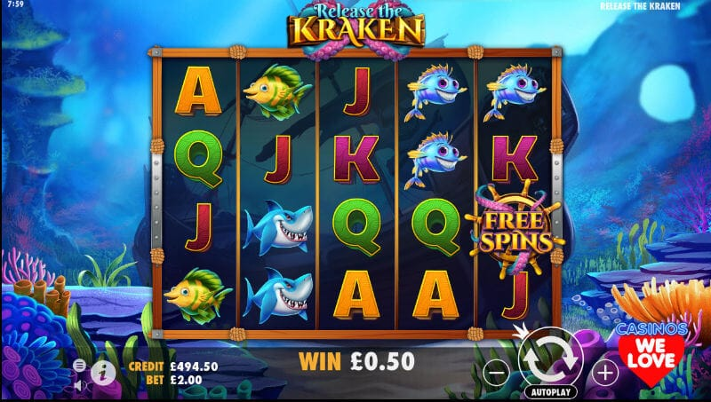 Release the Kraken Slots Online