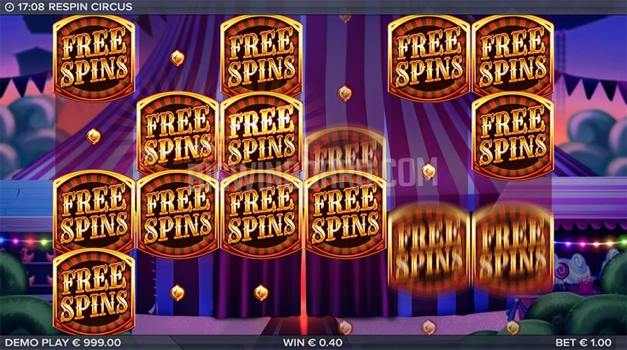 Respin Circus Casino Free Spins