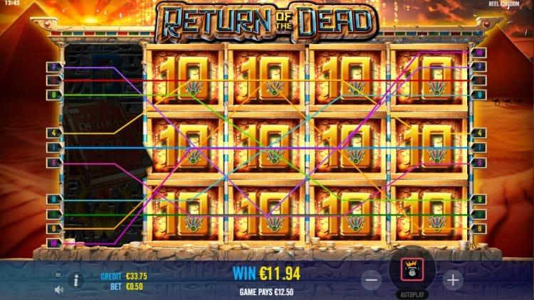 Return of the Dead Slots Reels