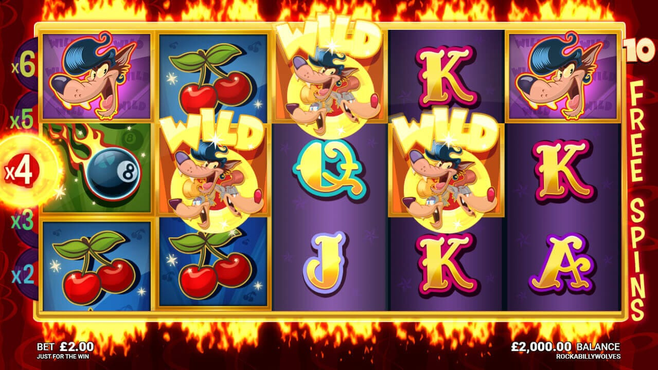 Rockabilly Wolves Slot Bonus
