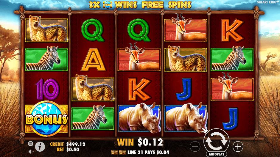 Safari King Slot Gameplay