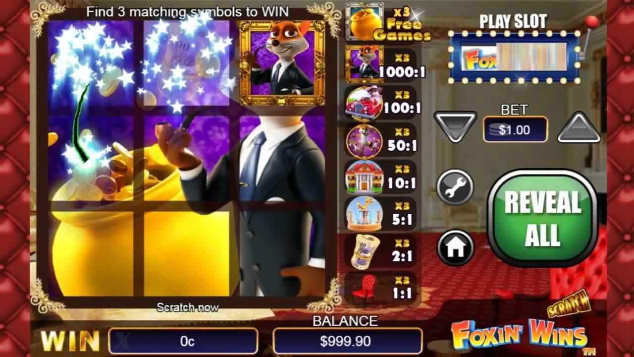 Scratch Foxin Wins Slot Bonus
